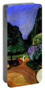 Summer Night At Studenterlunden Portable Battery Charger