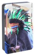 Summer Peacock Impersonation Portable Battery Charger