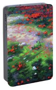 Summer Petals On A Forest Ground Portable Battery Charger