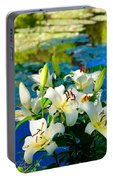 Summer Pond French Lilies Portable Battery Charger