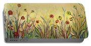 Summer Poppies Portable Battery Charger