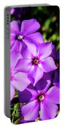 Summer Purple Phlox Portable Battery Charger