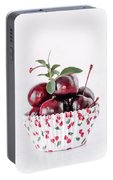 Summer Red Cherries Portable Battery Charger