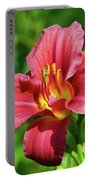 Summer Red Lily Portable Battery Charger