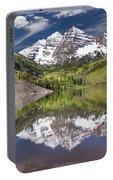 Maroon Bells Aspen Colorado Summer Reflections Portable Battery Charger