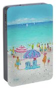 Summer Scene Diptych 1 Portable Battery Charger