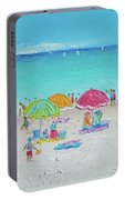 Summer Scene Diptych 2 Portable Battery Charger