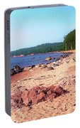 Summer Shores Of Lake Superior Portable Battery Charger