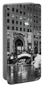 Summer Shower, Times Square, Nyc #130559 Portable Battery Charger by John Bald