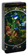 Summer Stained Glass Panel Portable Battery Charger