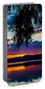 Sunset At Agency Lake, Oregon Portable Battery Charger