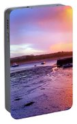 Summer Sunset At Low Tide Portable Battery Charger