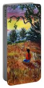 Summer Sunset Meditation Portable Battery Charger