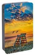 Summer Sunset On The Beach Portable Battery Charger