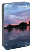 Summer Sunset On Yakima River 4 Portable Battery Charger