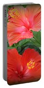 Summer Time Beauties - Hibiscus - Dora Sofia Caputo Portable Battery Charger