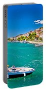 Summer View Of Tisno Coast Portable Battery Charger