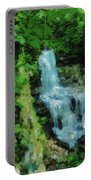 Summer Waterfall In West Milton Portable Battery Charger