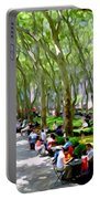 Summertime In Bryant Park Portable Battery Charger
