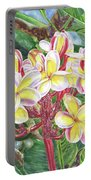 Summertime Kauai Island Plumeria Watercolor By Jenny Floravita Portable Battery Charger