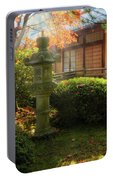 Sun Beams Over Japanese Stone Lantern Portable Battery Charger