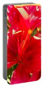 Sun Dappled Lily Portable Battery Charger