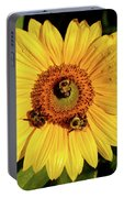 Sunflower And Bees Portable Battery Charger
