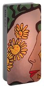 Sun Flower Conection Portable Battery Charger