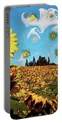 Sun Flowers Field Portable Battery Charger