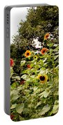 Sun Flowers Of Chanticleer Portable Battery Charger
