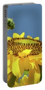 Sun Flowers Summer Sunny Day 8 Blue Skies Giclee Art Prints Baslee Troutman Portable Battery Charger