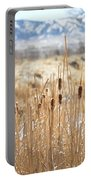Sun Kissed Cattails - Casper Wyoming Portable Battery Charger