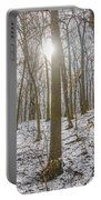 Sun Peaking Through The Trees - Fairmount Park Portable Battery Charger