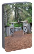 Sun Rays Over Fort Clatsop Portable Battery Charger