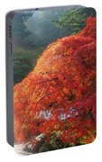 Sun Rays Over Old Japanese Maple Tree Portable Battery Charger