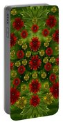 Sun Roses In The Deep Dark Forest With Fantasy And Flair Portable Battery Charger