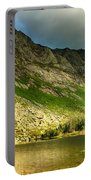 Sun Shining On Chimney Pond  Portable Battery Charger