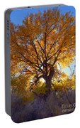 Sun Through Golden Leaves Portable Battery Charger