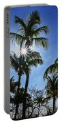 Sun Through Smathers Beach Palms Portable Battery Charger