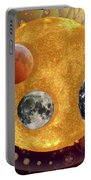 Sun With Planet Moons Portable Battery Charger