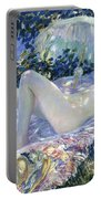 Sunbathing Portable Battery Charger by Frederick Carl Frieseke