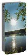 Sunburst Over The Reservoir Portable Battery Charger