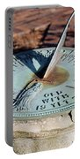 Sundial At Benjamin Harrison Home, Indianapolis, Indiana Portable Battery Charger