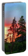 Sundown In Yellowstone Portable Battery Charger