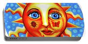 Sunface With Ladybug Portable Battery Charger