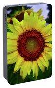 Sunflower After A Summer Rain Portable Battery Charger