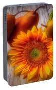 Sunflower And Pears Portable Battery Charger