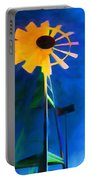 Sunflower And The Wind Spirit Portable Battery Charger