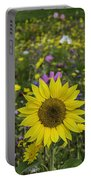 Sunflower And Wildflowers Portable Battery Charger