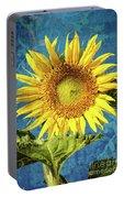 Sunflower Art Portable Battery Charger